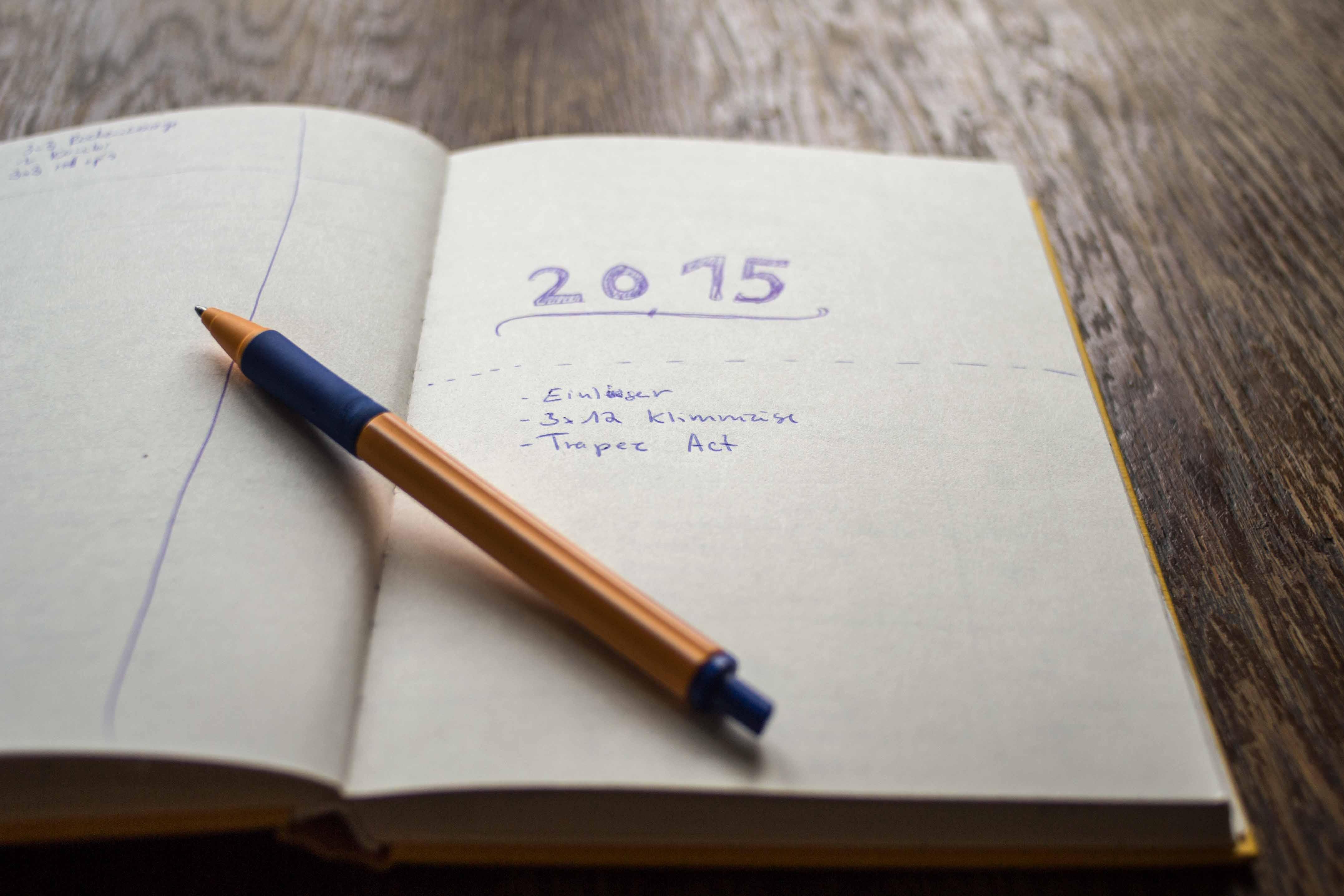Meine Ziele für 2015..